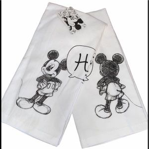 "DISNEY ♣️MICKEY MOUSE ""HI & BYE""HAND TOWELS"